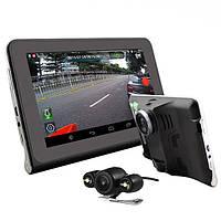 Junsun Q800S 7-дюймовый Android Автомобильный видеорегистратор GPS Радар Даш камера Video Recorder 16GB Вид сзади GPS навигация