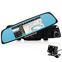 Junsun 6.8 дюймов Touch Scree 1080P HD WIFI Dual Объектив Авто Видеорегистратор камера Видеомагнитофон 1200Mega GPS