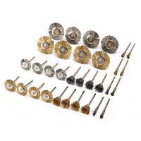 Набор латунных стальных колец проволоки 32шт Набор полировальных колес для вращающихся инструментов