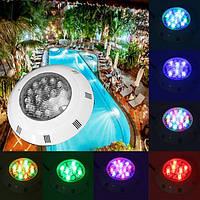 18W Многоцветный LED Дистанционный Плавание Бассейн Свет под водой RGB Водонепроницаемы IP68 Лампа