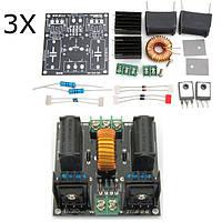 3шт DIY ZVS Tesla Катушка питания Повышение напряжения Напряжение генератора Drive Board Индукционный нагревательный модуль