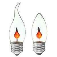 Ретро огонь пламя свечи Эдисона лампочки лампа люстра красного освещения 220v E27 3w