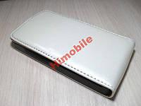 Чехол книжка для HTC A9191 белый (глянец)