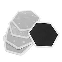 10шт Гладкие слайдеры для мебели Черная шестиугольная форма для ковровых плиток Стол для ног