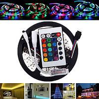5M smd2835 не водонепроницаемый 300 LED RGB гибкая полоса света + мини 24 клавиш IR дистанционный контроллер DC12V