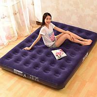 Надувная кровать Делюкс открытый мягкой стекались верхней для комфорта надувной матрац twin королева кровать Кинг-сайз