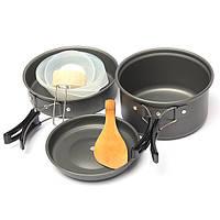 IPRee ™ 8 шт. Приготовление пищи в кастрюле. Набор для кастрюль. Рюкзак. Отдых. Кулинария. Пешие прогулки. Пикник. Открытая посуда.