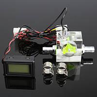 Жидкостное охлаждение воды 4Pin 3-ходовой расходомер с термометром G1 / 4 Резьбовой соединитель - 1TopShop