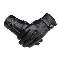 Полный палец перчатки кожаные мужчины зимой на велосипеде верхом спорта на открытом воздухе черный для boodun