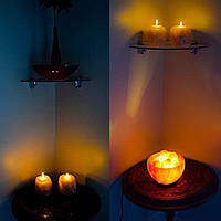 Соляные лампы ночь Подсвечник свет очистителя домашнего декора Rock Гималайский природный кристалл