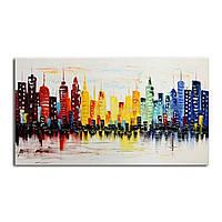 120x60cm современный город холст абстрактной живописи печати гостиной стены искусства декора без рамки