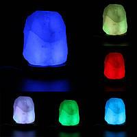 Ионизированный USB 7 цветов изменчива LED свет очиститель воздуха Rock Гималайская соль лампа кристалл