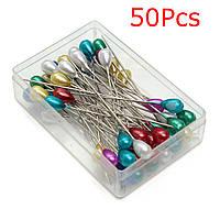 50шт Pearl Pins Швейные аксессуары для патчей с Коробка