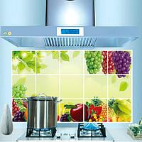 45 * 70см съемная кухня фрукты виноградного масла доказательство стикер стены водонепроницаемый анти-нефть наклейки на стены стикер