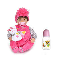 17inch возрождается девочка кукла ручной работы силиконовые реалистичное детские игрушки играть дома