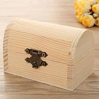9x6см мини деревянная коробка ювелирных изделий ручной ящик для хранения организатор