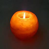 Хрустальный гималайский держатель свечей для свечей Ночной солевой камень Чай Светлый очистительный стол для воздуха Лампа