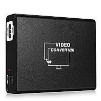 HD к SCART Композитный видео конвертер Стерео аудио адаптер для HD Blue Ray DVD