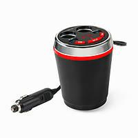 Беспроводная технология Bluetooth FM автомобильного прикуривателя Dual USB держатель чашки зарядное гнездо адаптера Handfree вызова