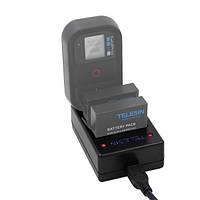 TELESIN Многофункциональные 3 слота камера Батарея Зарядное устройство Wi-Fi Дистанционное Управление для Gopro Hero 5 4