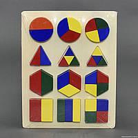 Деревянная игра для малышей Геометрика,  С23173