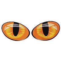 Большие 3d смешные глаза кошки Светоотражающие наклейки мотоцикл автомобиль дверь окно деколи 10x8cm