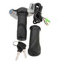 7/8 (22.2mm) 24V электрический самокат мотоцикла дроссельной заслонки Twist LED рукоятки руля Цифровой измеритель