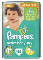 Подгузники 4+ Maxi+ 9-16кг 45шт Active baby-dry Pampers 1/1