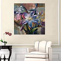 40X50см новая красота фиолетовый лилии картины поделки ручной работы самостоятельно комплект краски неструктурированного украшение дома