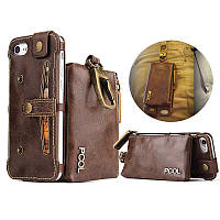 PCOL кожаный молдинг Wallet Чехол с Крюк для iPhone 6 6s