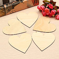 5pcs деревянная любовь форме сердца для свадьбы мемориальные доски корабля искусства приукрашивания