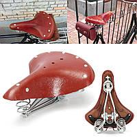 28x23x10cm старинные красно-коричневый велосипед езда на велосипеде из натуральной кожи пружины седло сиденье