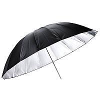 110см 43-дюймовый черный серебристый отражающий зонт для фотографии свет студии софтбокс