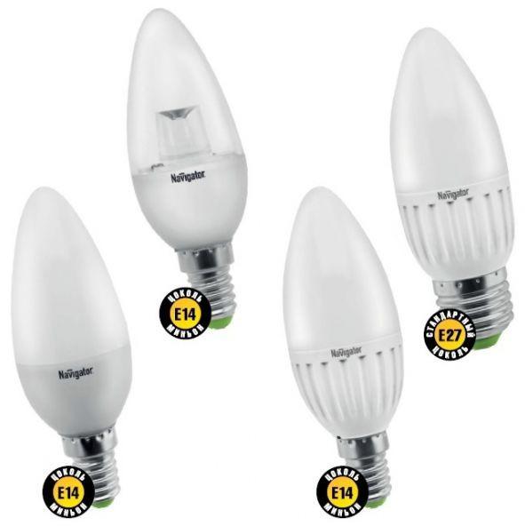 Лампа светодиодная NLL C35 3 W 4000K E14 (свеча) NAVIGATOR