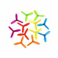 1 пара 3х дюймовых пропеллеров DYS 3045 3 Красного Оранжевого Синего Зеленого и Фиолетого цвета