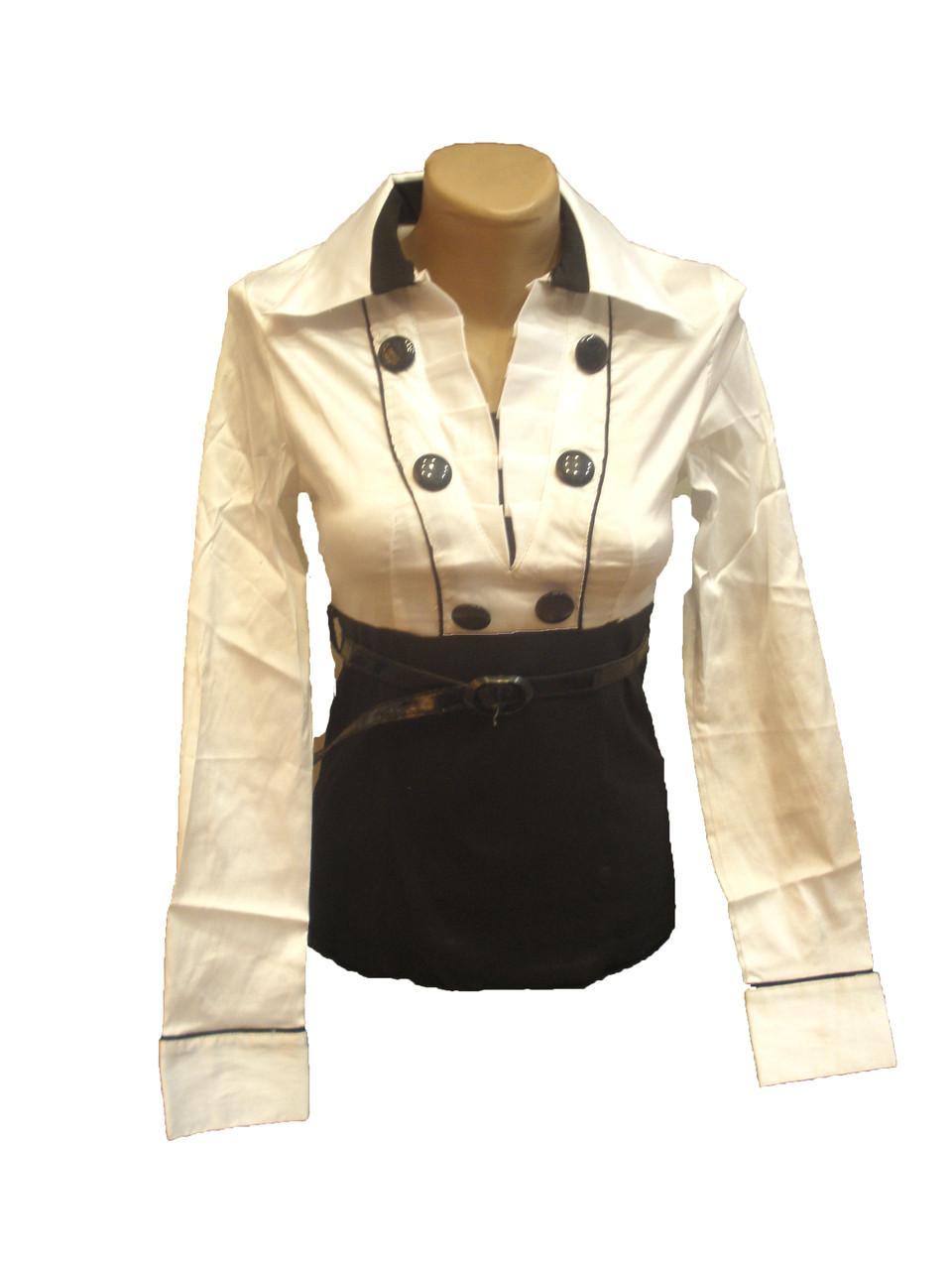 Блуза комбинированная.