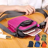 Универсальный трехслойную хранения съемный плечевой ремень талии сумка сумки для смартфонов
