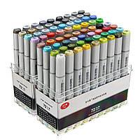 72 цветов знак пера маркеры дизайн краски эскиз чертежа растворимы перо мультфильма граффити маркеры ручки