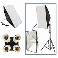 50см х 70см освещения студии фото софтбокс для 4 розетки E27 колбы лампы голова Европейская
