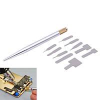 10 в 1 IC ремонт чип тонкий инструмент лезвие сотовый телефон центрального процессора для удаления резцом практичное ремонт ручного инструм