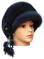 Норковая кепка на основе,Ирина (ирис)