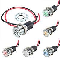 12v 14мм LED панель приборов предупредительный световой индикатор лампы