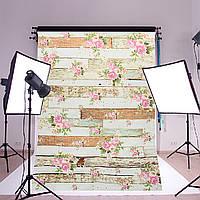 5x7 футов старинные розовые цветы деревянный пол стены фотостудия фон фон ткань