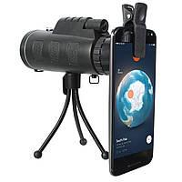 Телескоп с оптическим прицелом BAK4 с компасом IPRee ™ 40x60 На открытом воздухе Портативный монокуляр HD Clear Vision Оптический телескоп BAK4