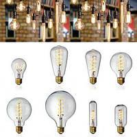 E27 затемняемый початок LED старинные ретро промышленного Edison лампы внутреннего освещения AC220V свет лампы накаливания
