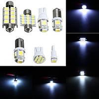 Интерьер LED 7pcs автомобиля 12v белый свет комплект купол лицензии пластины боковой Марк лампа для чтения