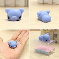 Синий Piggy Squishy Squeeze Свинья Симпатичные игрушки Исцеление Kawaii Коллекция снятие стресса подарка Декор