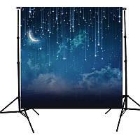 Звезда река луна ночью фотостудия виниловый фон фон Sky 10x10ft