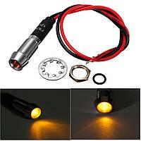 8мм 12v янтарь LED индикатор пилот направленного приборной панели автомобиля лампа грузовик лодки