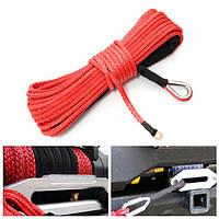 15m 7000LB Synthetic Fiber Winch Веревка Tow Cable для внедорожников ATV Off Road